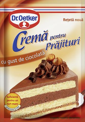 Crema pentru prajituri cu gust de ciocolata 55g Dr. Oetker
