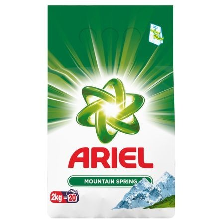 Detergent pudra Ariel Mountain Spring, 20 spalari, 2 kg