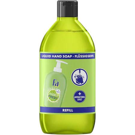 Rezerva sapun lichid Fa Hygiene&Fresh Lime, efect antibacterian, 385ml