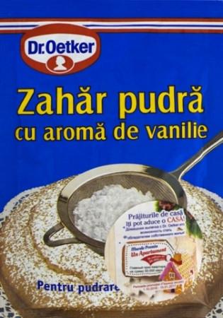 Zahar pudra cu aroma de vanilie 80g Dr. Oetker