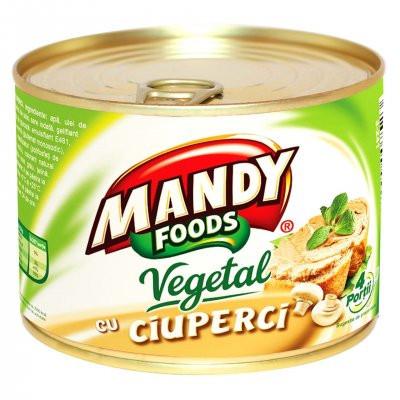 Mandy Pate Vegetal Cu Ciuperci 120g