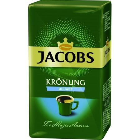 Cafea macinata si prajita decofeinizata Kronung 250g Jacobs