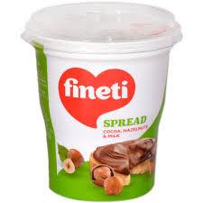 Fineti. Crema tartinabila cu cacao, alune si lapte 400g