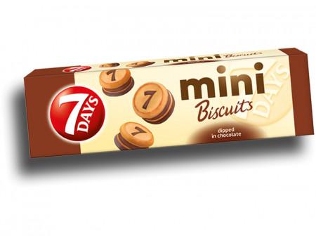 Mini Biscuiti 7 Day's cu cacao 100Gr.