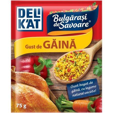 Baza pentru mancaruri Bulgarasi de savoare, cu gust de gaina 75g Delikat