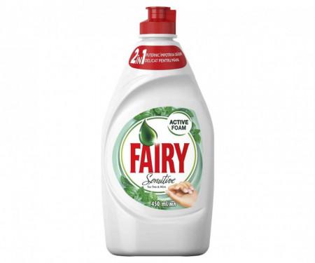 Fairy Sensitive Teatree and Mint detergent de vase 400 ml