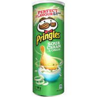 Chipsuri cu gust de smantana si ceapa Pringles, 165g