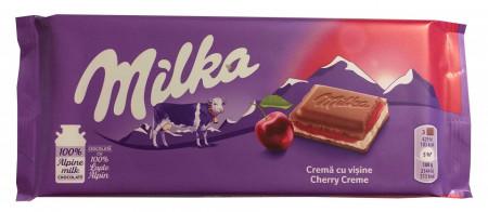 Ciocolata Milka 100g Crema cu Visine
