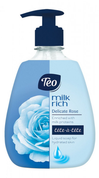 Sapun lichid Teo Milk Rich Delicate Rose 400 ml