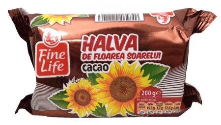 FINE LIFE HALVA FLOAREA SOARELUI CACAO 200G