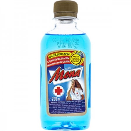 Mona alcool sanitar 70% – 200 ml