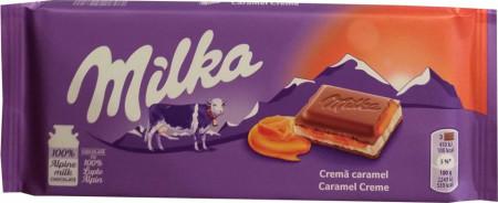 Ciocolata Milka 100g Crema Caramel
