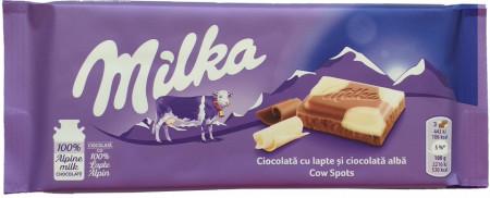 Ciocolata Milka 95g White Bubbly