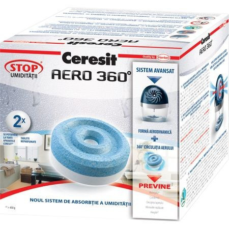 Rezerva absorbant umiditate Ceresit Aero 360 Neutral, 2 buc, 450 g