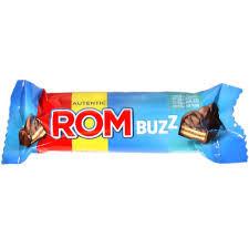 Rom. Ciocolata lapte cu napolitana si cremau aroma rom 50g