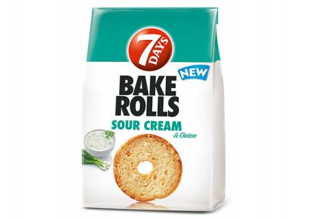 Rondele de paine cu aroma de smantana si ceapa Bake Rolls 80g 7Days