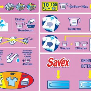 Detergent automat Savex 2in1 Color, 100 spalari, 10kg