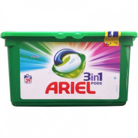 Detergent capsule Ariel 3in1 Pods Color - 39 spalari