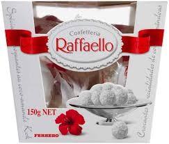 Praline crocante cu nuca de cocos si migdale 150g Raffaello