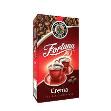 Cafea in vid macinata si prajita Crema 250g Fortuna