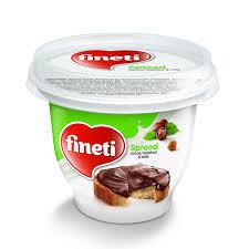Fineti. Crema cu cacao, alune de padure si lapte 200g Fineti
