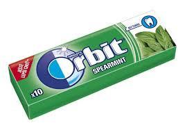 Guma de mestecat Spearmint 10 drajeuri 14g Orbit