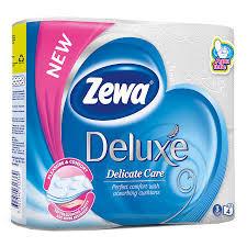 Hartie igienica Zewa Deluxe Delicate Care, 3 straturi, 4 role