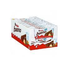 Napolitana cu lapte si umplutura de lapte si alune Bueno 43g Kinder