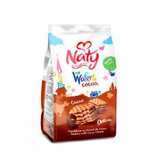 NATY Napolitane cu cremă de cacao 75g