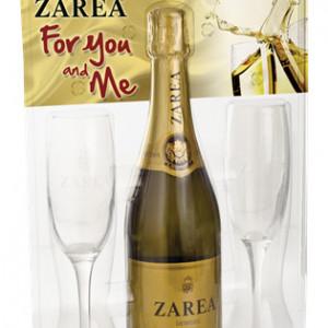 ZAREA CRYSTAL YOU&ME SPUMANT ALB 0.75L + PAHAR