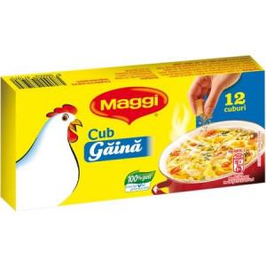 Baza pentru mancare cub cu gust de gaina 120g Maggi