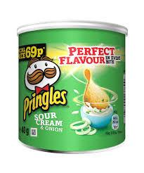 Chipsuri cu gust de smantana si ceapa Pringles, 40g