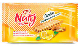 Napolitane Naty umplute cu crema de lamaie 160 g