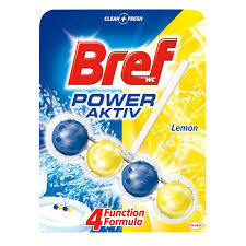 Odorizant WC, Bref, power aktiv Lemon, cu bile, 50g