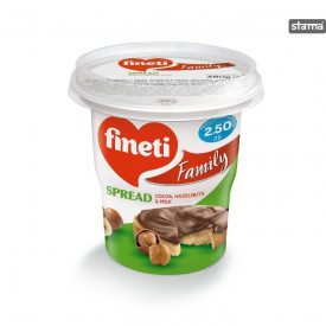 Fineti. Crema tartinabila cu cacao, alune si lapte 400g Fineti