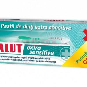 LACALUT EXTRA SENSITIVE PASTA DE DINTI + PERIUTA DE DINTI CADOU