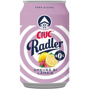 Ciuc Radler zmeură și lămâie 0,0% - 330 ml
