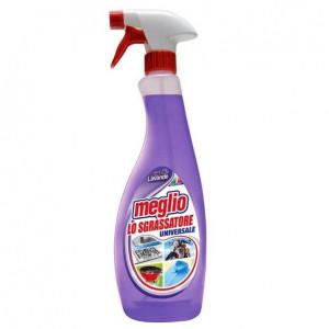 Degresant universal Meglio, aroma lavanda, 750 ml, elimina grasimea de pe suprafete din bucatarie, podele, tesaturi.