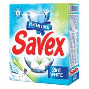 Detergent Automat Savex Powerzyme, 2in1 White, 300 g