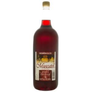 Vin rosu de masa demidulce 2l Muscatel