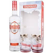 Vodca Stalinskaya, 40%, 0.7L + 2 pahare