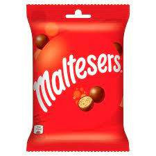 Maltesers. Bomboane ciocolata cu miez usor si crocant 68g