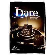 Napolitane Eti Dare cu ciocolata neagra, 112 g