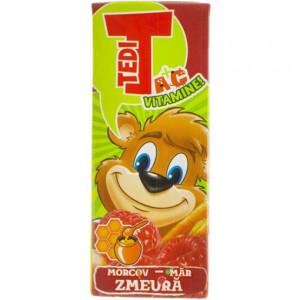 Tedi Morcov, măr și zmeură - 200 ml