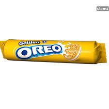 Biscuiti Golden cu crema de vanilie 154g Oreo