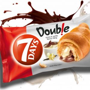 Croissant cu crema de vanilie si cacao Double 80g 7Days