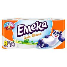 EMEKA HARTIE IGIENICA 8 ROLE 3STRATURI MELON PEACH