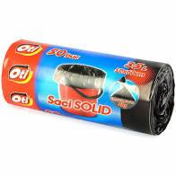 Saci SOLID, 35L, negru, 30 buc./rola