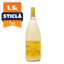 Vin alb demisec eticheta galbena 1.5l Cotnari