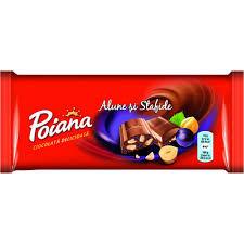 Ciocolata cu alune si stafide 90g Poiana